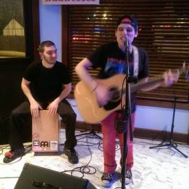 At Local Tavern Fish Bar open mic night, with Joey Priore